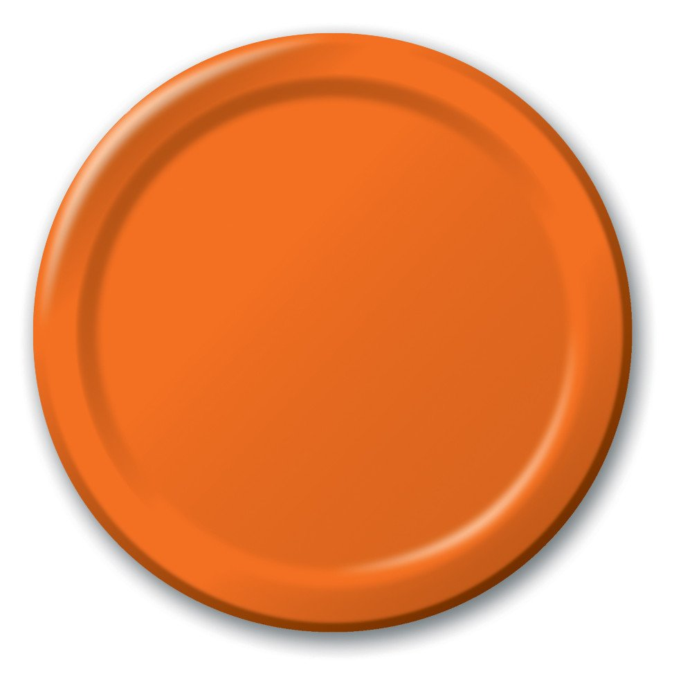 Creative Converting Touch of Color 24 Count Paper Banquet Plates, Sun-Kissed Orange - 50191B by Creative Converting