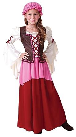 Bristol Novelty - Disfraz Infantil Medieval Little Tavern para niña