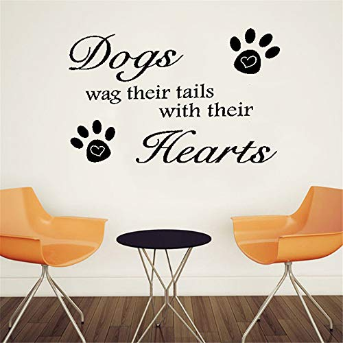 Pikat Vinyl Removable Wall Stickers Mural Decal Art Family Decals Dogs Wag Their Tails Beuaty Kidsroom Decor Decals