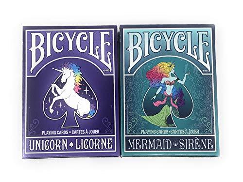 Bicycle Playing Cards Set ~ Unicorn & Mermaid