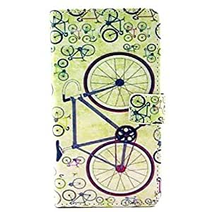 ZXM-Patrón simple bicicleta cuero de la PU caso de cuerpo completo con soporte para Samsung Galaxy Note 3