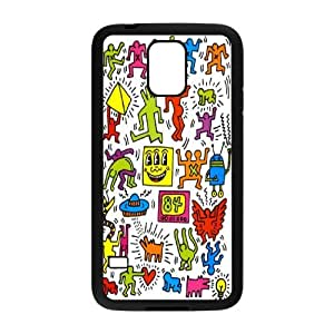 Wlicke Keith Haring High Quality Durable samsung galaxy s5 i9600 Case, Personalised Protective Cover Case for samsung galaxy s5 i9600 with Keith Haring