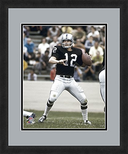 "NFL Oakland Raiders Ken Stabler, Beautifully Framed and Double Matted, 18"" x 22"" Sports (Raiders Ken)"