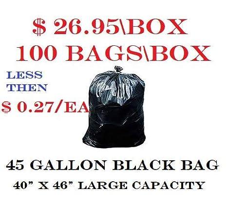 Amazon.com: 2 cajas – bolsas de basura, 40 – 45 galones ...