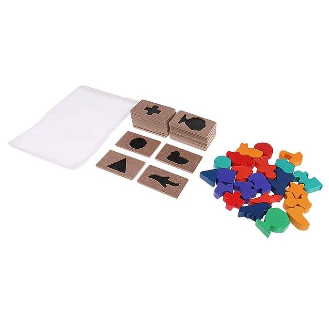 KESOTO Montessori Lernspielzeug Zahlenkarten Spielzeug f/ür Fr/ühes Lernen von Kindern