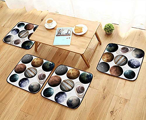 UHOO2018 Fillet Chair Cushion Isolated Planets in The Solar System Element furnished by NASA Suitable for The Chair W13.5 x L13.5/4PCS Set by UHOO2018