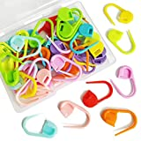 50 Pieces Colorful Knitting Markers Crochet Clips Crochet Pins Bulk Stitch Markers Locking Stitch Knitting Place Markers DIY Craft Plastic Safety Pins Weave Stitch Needle Clip Counter(10 Colors)