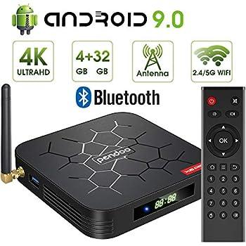 Amazon com: Android 8 1 4K Smart TV Box 4G+64GB H96 Max Display