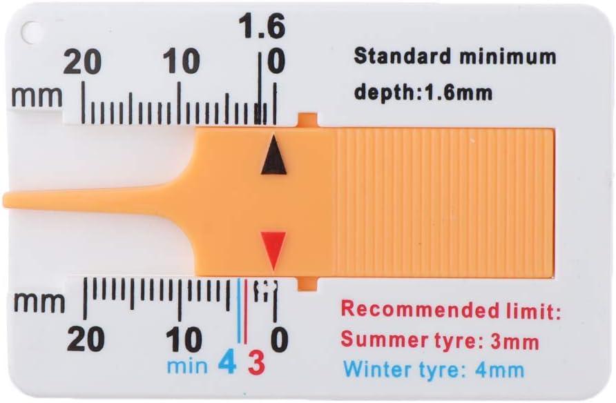 SDENSHI Auto Motorrad Reifen Profil Lineal Tiefenmesser Meter Rad Messwerkzeug 20mm