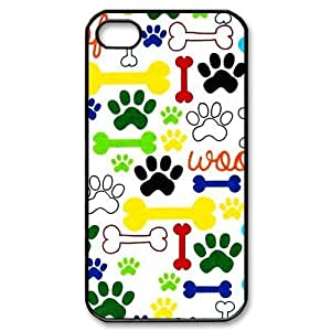 THYde New products,Animal series,Cute paw print and dog bone picture for black plastic iphone 5c case ending