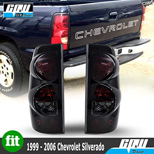 ZMAUTOPARTS Chevy Silverado/ GMC Sierra Pickup Tail Brake Lights Lamp Black/Smoke