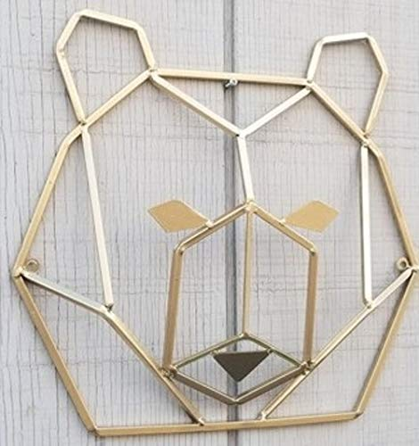 c71412134a Amazon.com: Rust Geometric Bear Head Metal Wall Decor: Handmade