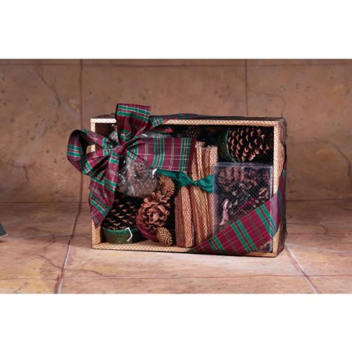 Copperfield 47140 Fire Starter Oak Crate With Color Cones, 4 Pine Cone Fire Starters, Fatwood and Cinnamon Potpourri by Copperfield