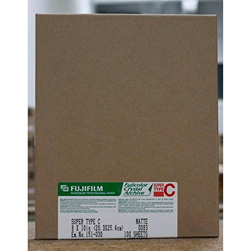 Fujifilm Fujicolor Crystal Archive Super Type II Color Enlarging Paper - 8x10''-100 Sheets - Matte Surface. by Fuji Type II