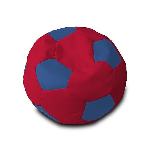 Puff Pelota Polipiel XL Ø90cm (Rojo y Azul): Amazon.es: Hogar