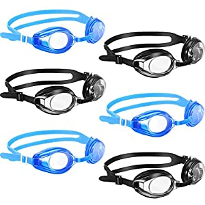 6 Pieces Swim Goggles with No Leaking for Adult Men Women Kids Triathlon