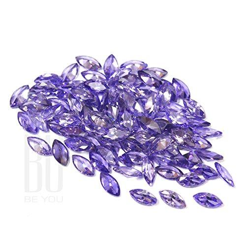 Be You Bleu Couleur Zircone Cubique AAA Qualité 2.5x5 mm Diamant Coupe Marquise Forme 500 pcs gemme