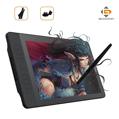 GAOMON PD1560 15.6 Inch 8192 Levels IPS HD Screen Drawing Monitor Pen Display with 10 Shortcut Keys and Wireless Digital Stylus for Win&Mac by GAOMON