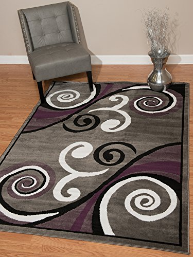 (United Weavers of America Dallas Billow Rug - 1ft. 11in. x 3ft. 3in, Grey, Jute Area Rug with Scrollwork Pattern. Room Décor)