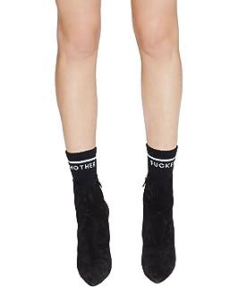MOTHER Womens MF Baby Steps Socks, Black & White