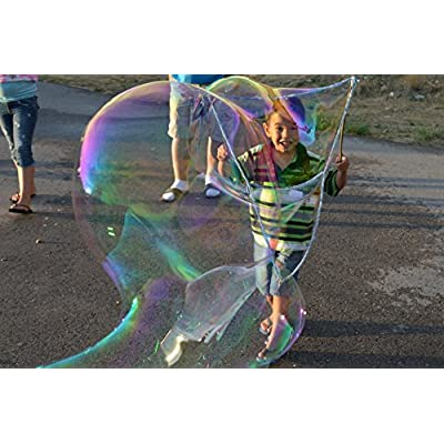 Monster Bubbles Kit 2-Foot String Wand & Bubble Concentrate: Industrial & Scientific