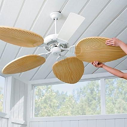 Amazon palm leaf ceiling fan blades set of 5 ivory by palm leaf ceiling fan blades set of 5 ivory by improvements aloadofball Choice Image