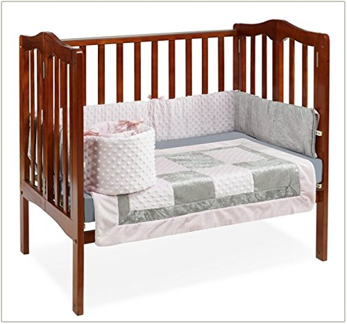 Baby Doll Bedding Croco Minky Mini Crib/ Port-a-Crib Bedding, Pink/Grey by BabyDoll Bedding   B00KBGT77U