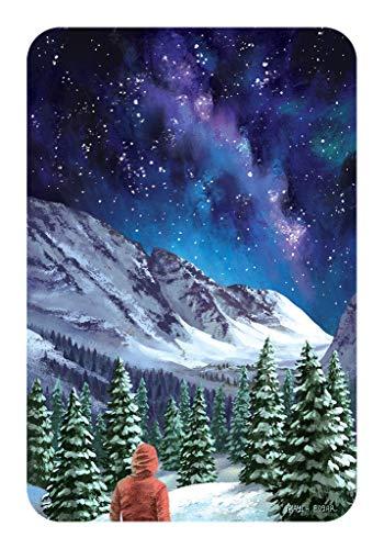 Sticker Art Milky Way Hiking Mountain Tough Outdoor Stickers, Waterproof Vinyl (4.5