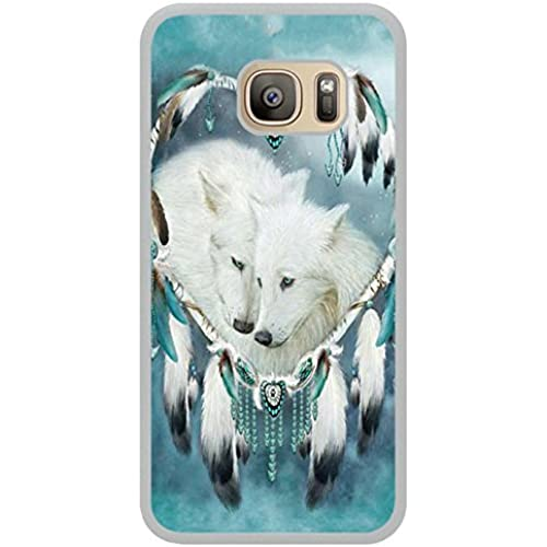 Wolf Dream Catcher White Shell Phone Case Fit For Samsung Galaxy S7,Newest Cover Sales