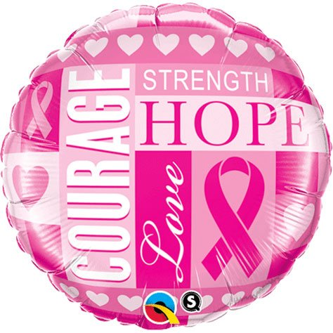 PIONEER BALLOON COMPANY 35119 Breast Cancer Inspiration Balloon Pack, 18