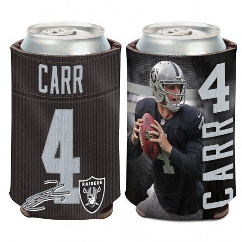 NFL Oakland Raiders Can Cooler 12 oz. Derek Carr Limited Can Koozie by WinCraft