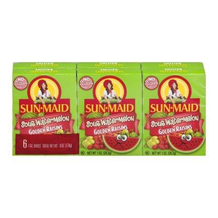 Sun-Maid Golden Raisins Sour Watermelon Flavored - 6 CT ( 3 pack )