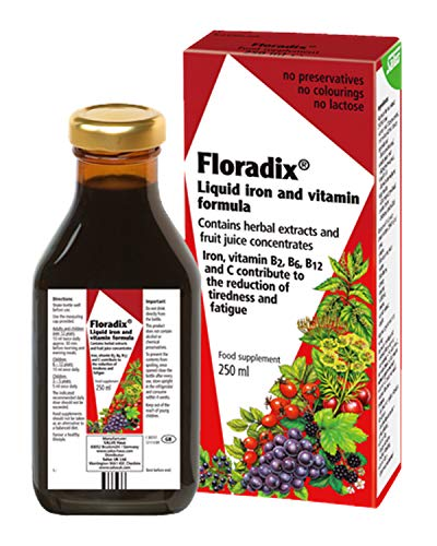 Floradix Floravital Liquid Iron and Vitamin Formula 8.5 fl.oz. – 250 ml. – Made in Germany 2 Pack