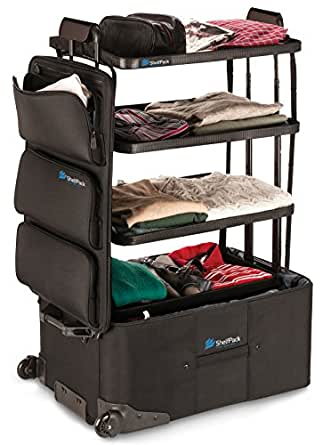 ShelfPack - Revolutionary suitcase with built-in shelves.