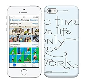 5/5s Scratch-proof Protection Case Cover For Iphone/ Hot Taking Time To Live Will Only In Spire Your Work Phone Case by ruishername