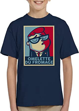 Cloud City 7 Dexters Laboratory Omelette Du Fromage Hope Parody Kid's T-Shirt