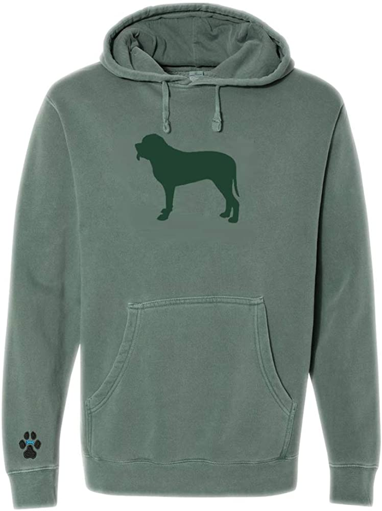 Heavyweight Pigment-Dyed Hooded Sweatshirt with/ Mastiff Silhouette