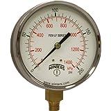 Winters PEM225LF PEM-LF Series Pressure Gauge, 4