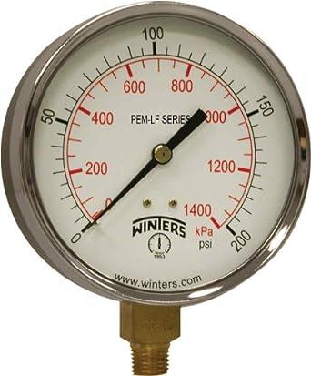 "Pressure Gauge  Air Compressor And All Purpose 1//4/"" NPT 2/"" DIAL 0-160 PSI"