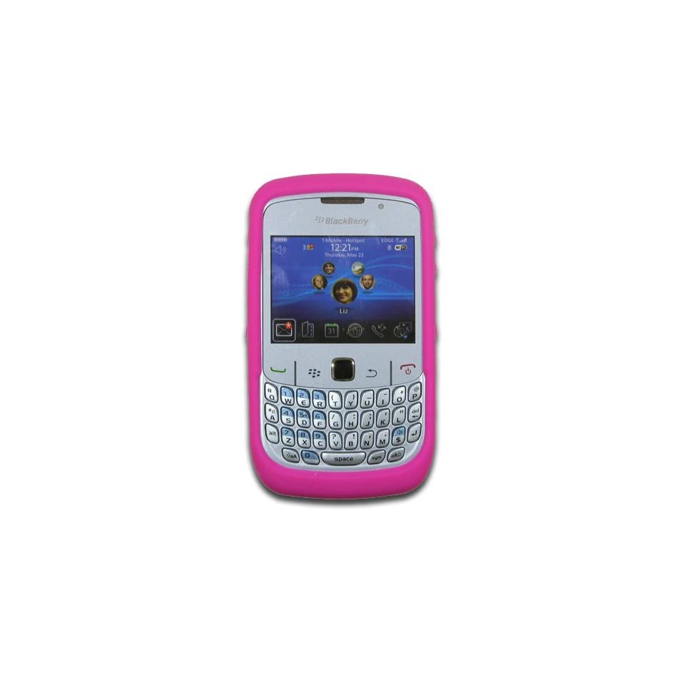 Blackberry Curve 8500, 8510, 8520, 8530 Hot Pink Silicone Skin Case