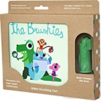 The Brushies baby and toddler toothbrush and storybook - Chomps the Dino!