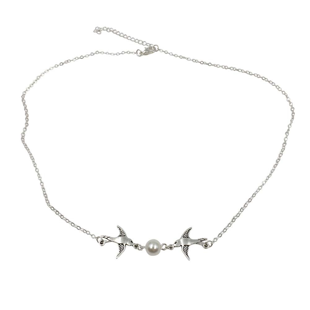 MSHIER NEW Charm Jewelry Chain Pendant Lovely Pearl Necklace
