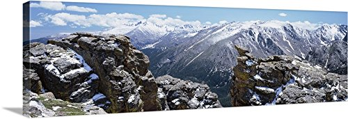 Canvas on Demand Premium Thick-Wrap Canvas Wall Art Print entitled Colorado, Rocky Mountain National Park, Panoramic view of snowcapped mountain range 36