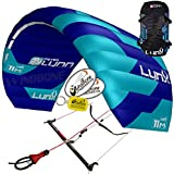 2017 Peter Lynn Lynx DePower Foil Power Kite Snow Snowkiting Landboarding Buggy Traction Bundled with WindBone Kiteboarding Decals, Key Fob & Koozie