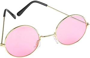 Rhode Island Novelty World John Lennon Style Sunglasses   Pink   One Pair  
