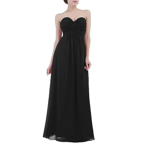 iiniim Vestido de Ceremonia para Mujer Vestido Largo Chiffón Elegante Vestido de Dama de Honor de