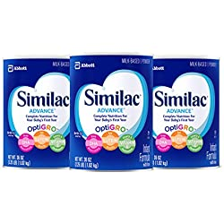 Similac Advance Infant Formula with Iron, 36 Ounce (Pack of 3)