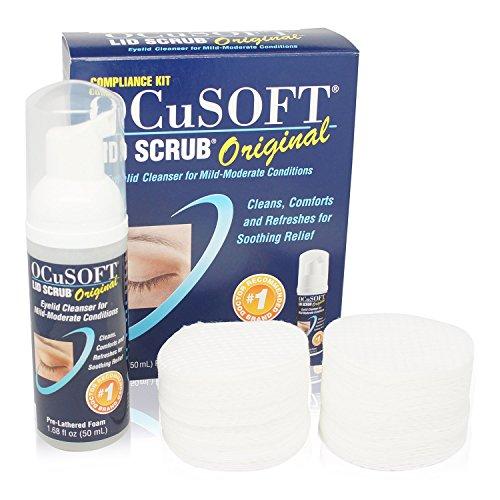 Ocusoft Eye Makeup Remover (Ocusoft Lid Scrub Eyelid Cleanser Compliance Kit, Original Formula Size: KIT)