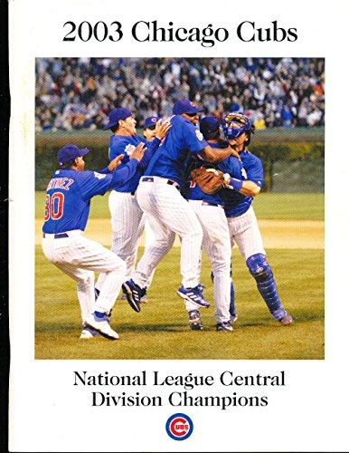2003 NLCS chicago Cubs Post Season Media Press Guide