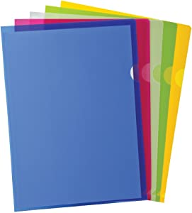 Poly Project Pocket, Letter Size, Assorted Colors, 10/Pack (53296)